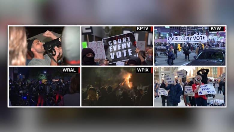 """مظاهرات محدودة بمدن أمريكية.. واعتقال 20 حاولوا """"اختطاف احتجاج سلمي"""" في نيويورك"""