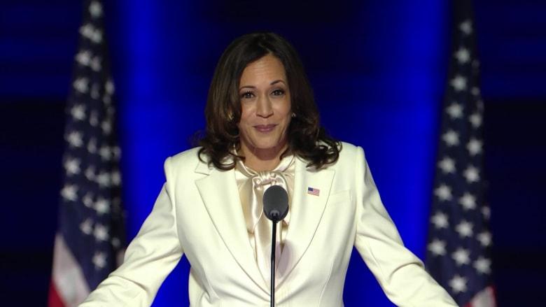 بأول خطاب لها بعد الفوز.. كامالا هاريس: أنا الأولى في منصبي ولن أكون الأخيرة