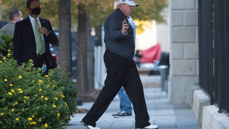 شاهد لحظة عودة ترامب إلى البيت الأبيض بموكبه بعد فوز بايدن