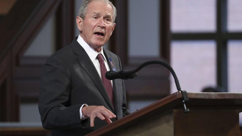 """جورج بوش يهنئ بايدن وهاريس ويعرض استعداده للمساعدة """"بأي طريقة ممكنة"""""""