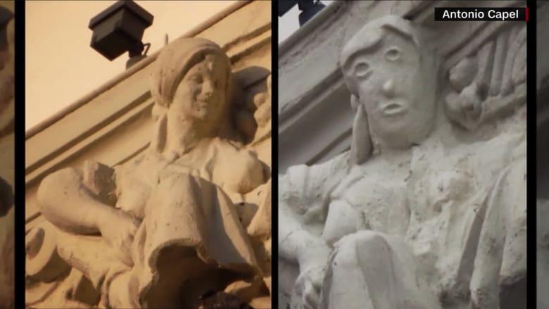 ترميم فاشل لتمثال يثير موجة واسعة من السخرية عبر الإنترنت