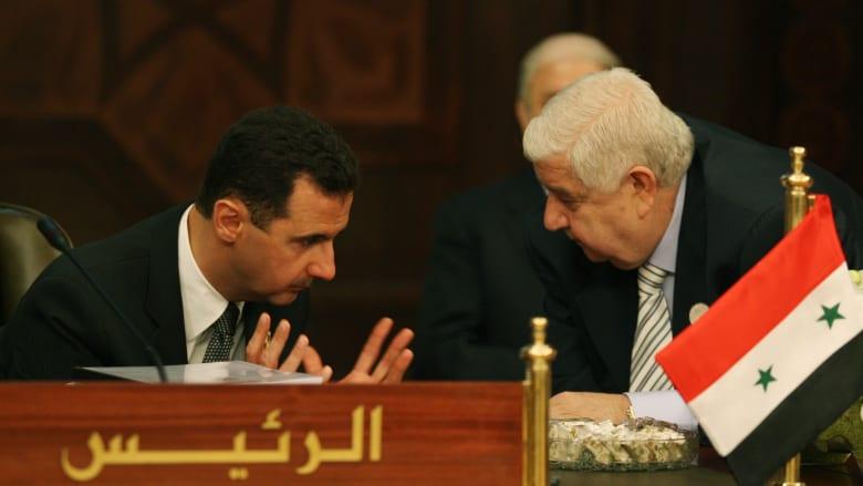 صورة أرشيفية لوليد المعلم مع بشار الأسد