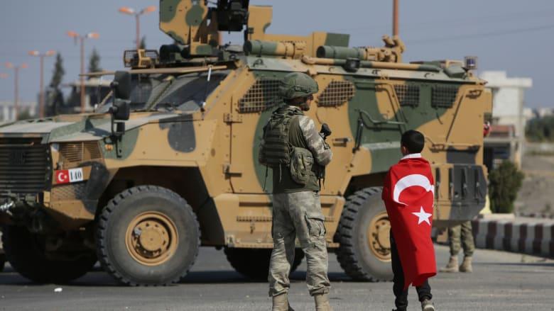 صورة ارشيفية لعربة عسكرية تركيا شمال سوريا