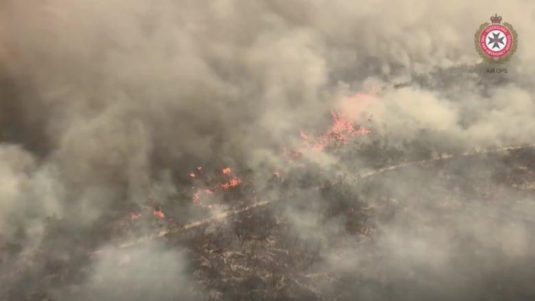مقاطع فيديو جوية تُظهر كيفية اندلاع حريق في أكبر جزيرة رملية في العالم تابعة لأحد مواقع التراث العالمي