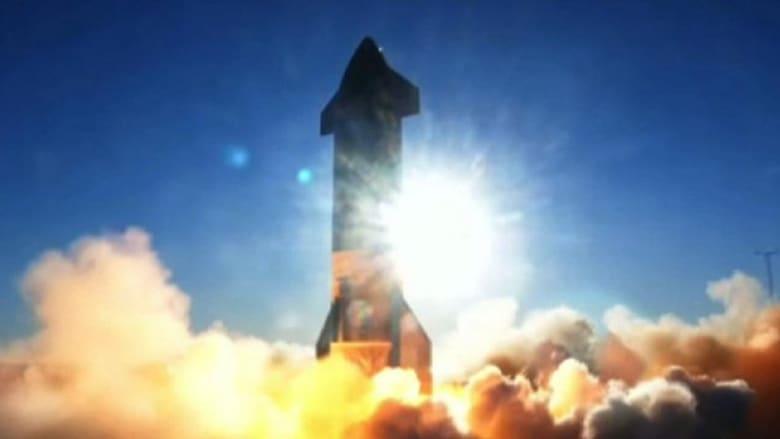 لحظة انفجار صاروخ سبيس إكس