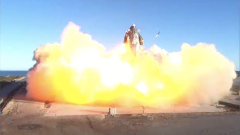 شاهد انفجار نموذج صاروخ سبيس إكس إلى المريخ أثناء عملية هبوط
