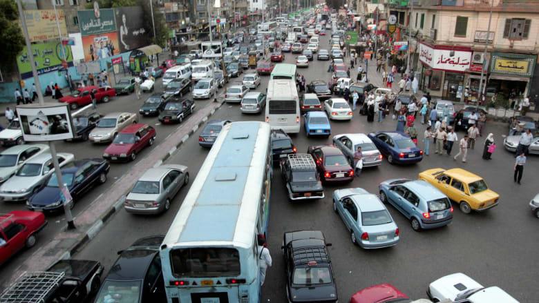 صورة ارشيفية عامة لأحد الشوارع في مصر