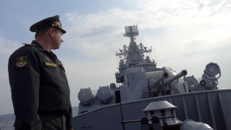صورة ارشيفية لضابط في البحرية الروسية العام 2015