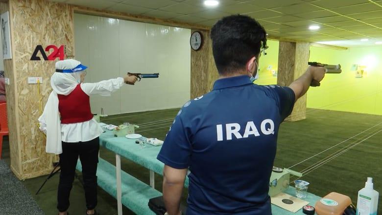 لاعبا رماية عراقيين.. آية وقصي لم يمنعهما كورونا عن التدريب وتحقيق أرقام قياسية