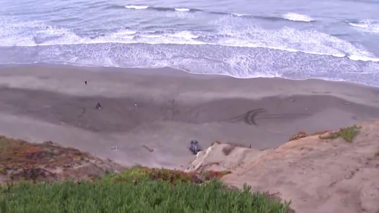 نجاة امرأة بأعجوبة بعد سقوط سيارتها من أعلى منحدر صخري في سان فرانسيسكو