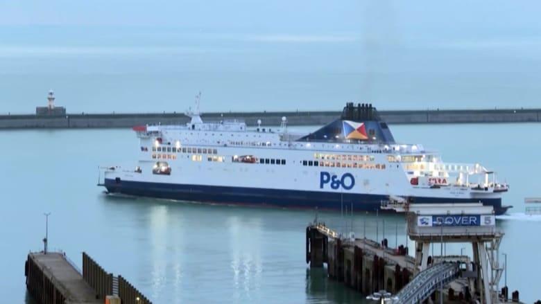 شاهد إبحار أول عبّارة تغادر ميناء دوفر بعد بريكسيت متجهة إلى فرنسا