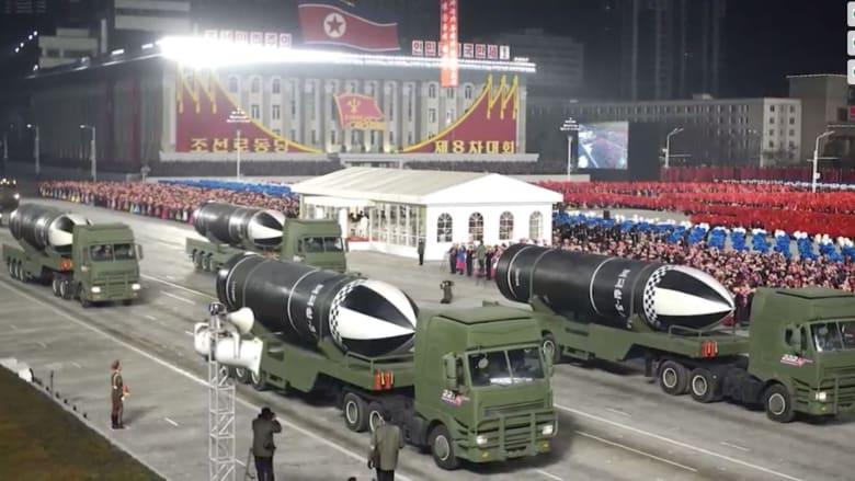 """""""أقوى سلاح في العالم"""".. كوريا الشمالية تكشف عن صاروخ باليستي جديد في عرض عسكري"""