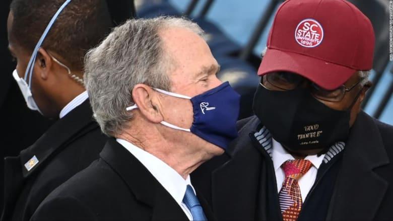 هذا ما قاله جورج بوش عن ترامب وبايدن خلال حفل التنصيب