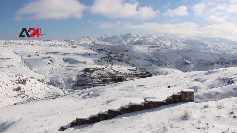 لبنان.. مناشدات لإنقاذ اللاجئين السوريين من موجة الثلوج في مخيمات عرسال