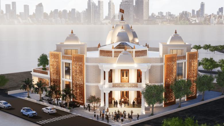 مستوحى من العمارة العربية.. ألق نظرة على المعبد الهندوسي الذي ستحتضنه دبي قريبا