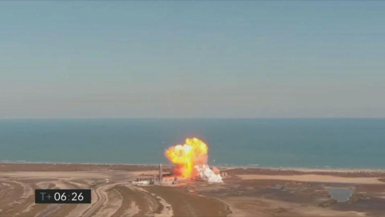 """للمرة الثانية على التوالي.. شاهد لحظة انفجار صاروخ """"سبيس إكس"""" أثناء اختباره"""