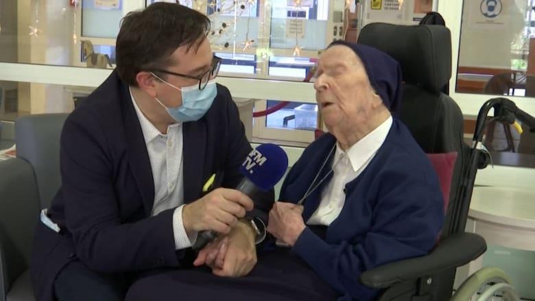 راهبة فرنسية عمرها 116 عامًا تنجو من فيروس كورونا