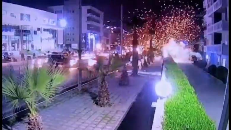 لحظة انفجار في إربيل