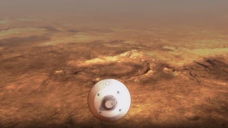 """فيديو توضيحي يظهر لحظات هبوط مركبة ناسا """"المثابرة"""" على سطح المريخ"""