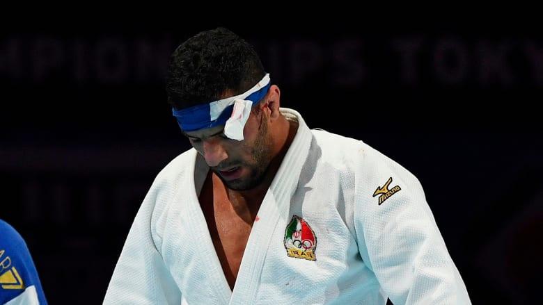 لاعب الجود الإيراني سعيد مولايي ينافس في بطولة جراند سلام تل أبيب في إسرائيل