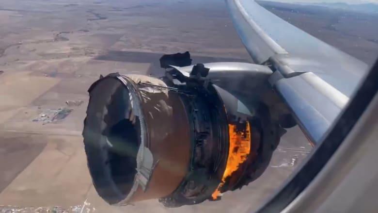 شاهد رد فعل شهود عيان عايشوا لحظات اشتعال محرك طائرة الركاب الأمريكية