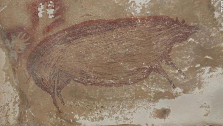 اكتشاف أقدم دليل على قصة في إندونيسيا بلوحة كهف عمرها 45500 عام