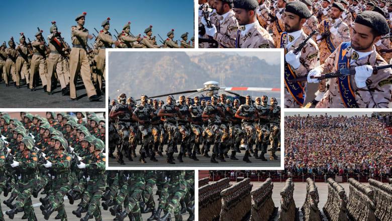 السعودية بينهم ومصر تتراجع.. أكبر 10 جيوش بعدد القوات العاملة