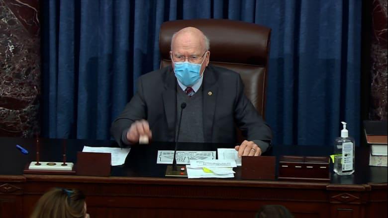 لحظة موافقة مجلس الشيوخ على خطة بايدن للإغاثة من كورونا المقدرة بـ1.9 تريليون دولار