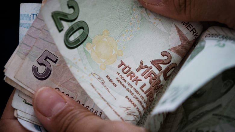 The Turkish central bank raises the interest rate to 19 percent