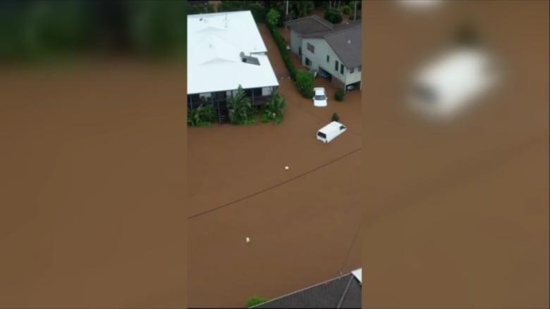 بالفيديو.. لحظة غرق منطقة أسترالية بسبب فيضان
