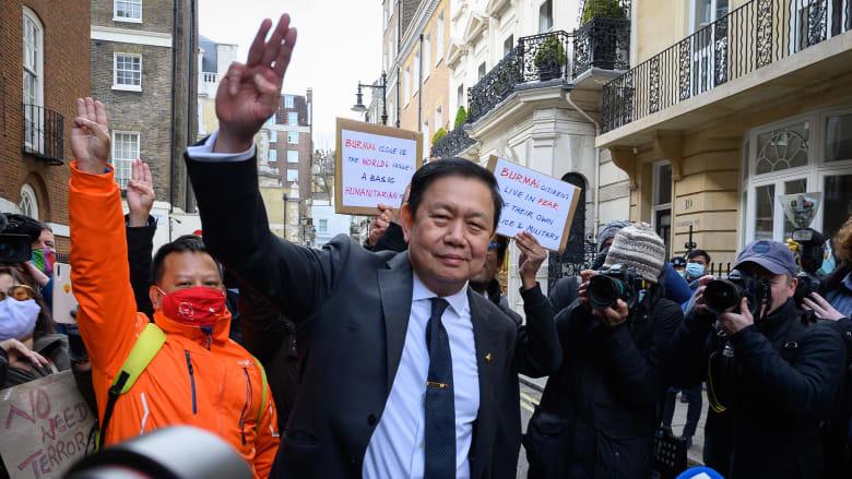 بعد منع دخوله المبنى.. سفير ميانمار إلى لندن يدعو بريطانيا لإزالة من سيطروا على السفارة