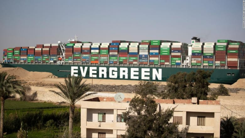 """مصر تصادر سفينة """"إيفير غيفن"""" وتطالب بتعويض 900 مليون دولار"""