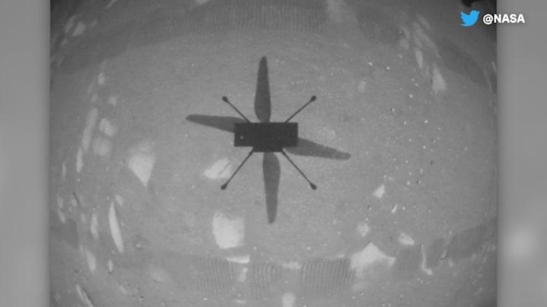 شاهد أول تحليق لمروحية Ingenuity من ناسا على كوكب المريخ