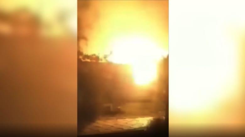 فيديو يرصد لحظة انفجار أسطوانات الأكسجين بمستشفى ابن الخطيب