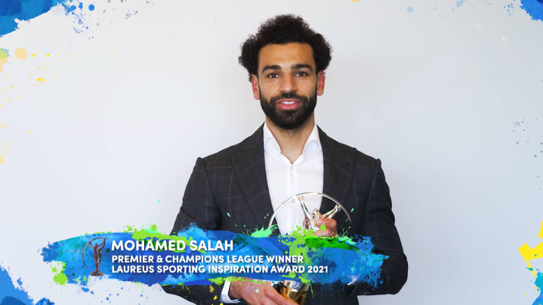 محمد صلاح يفوز بجائزة لوريوس العالمية للإلهام الرياضي