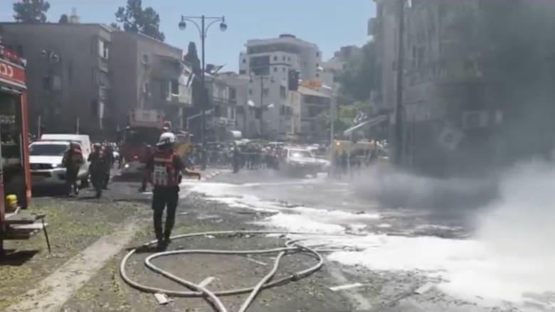 حماس تطلق صواريخ في اتجاه تل أبيب بعد قصف مخيم الشاطئ