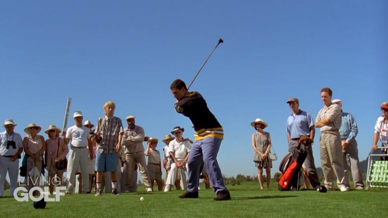 """ضربة الكرة بفيلم """"Happy Gilmore"""".. قد تكون الأكثر شهرة في لعبة الغولف بأكملها"""