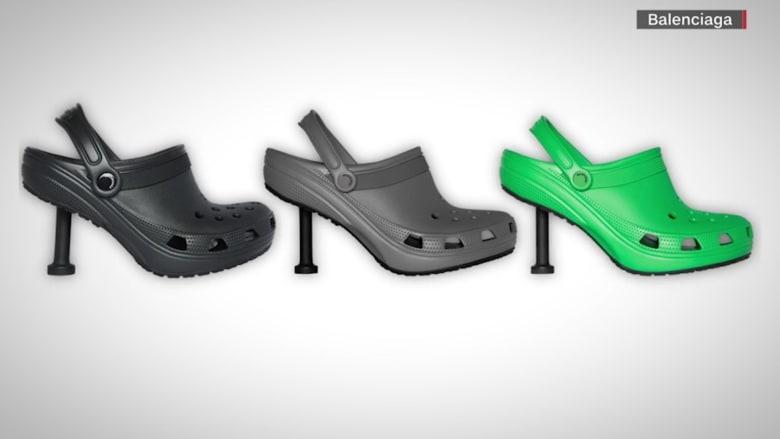 """""""كروكس"""" بالكعب العالي.. حذاء بتصميم غريب سعره قد يصل إلى ألف دولار"""