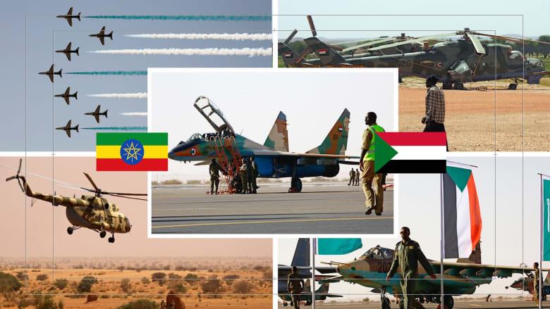 مقارنة بين سلاح الجو السوداني ونظيره الأثيوبي وفق إحصائية 2021