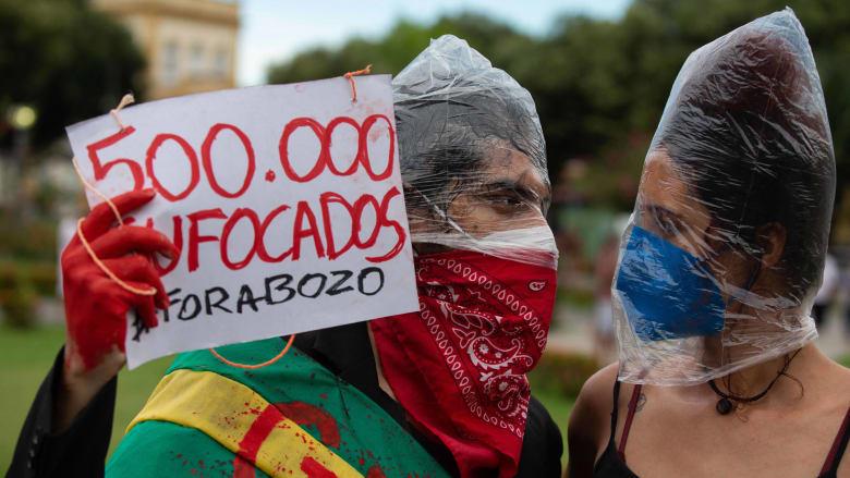 وفيات كورونا تتجاوز نصف مليون في البرازيل.. ومظاهرات ضد الرئيس