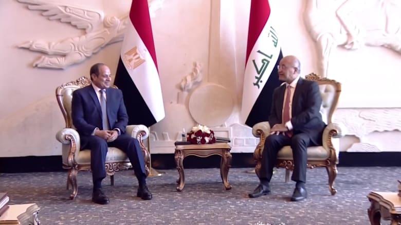 السيسي يصل العراق في أول زيارة من نوعها منذ 30 عامًا