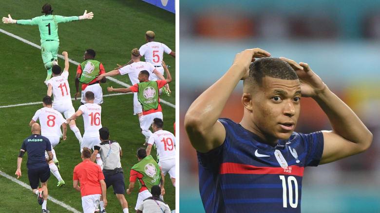 سويسرا تسقط فرنسا في مباراة مجنونة.. ونهاية متوقعة لمبايي