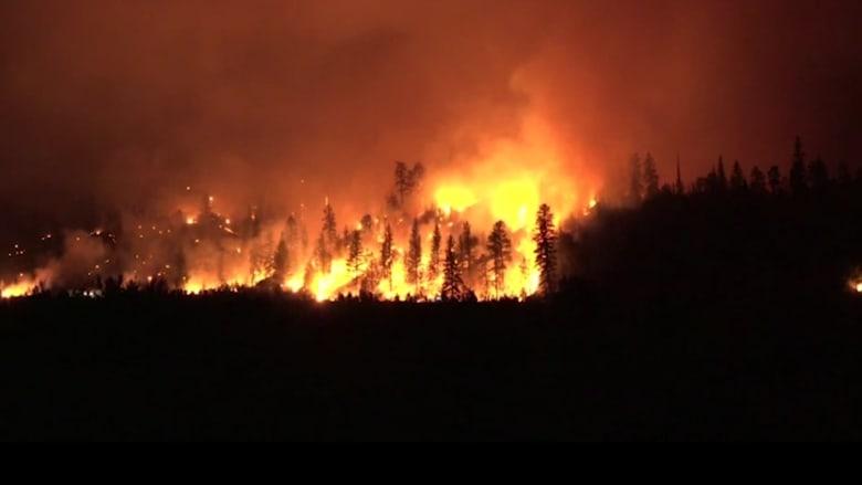 حرائق كبيرة تجتاح شمال كاليفورنيا