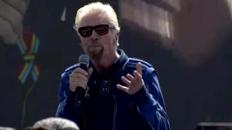 ريتشارد برانسون: نحن هنا لجعل الفضاء في متناول الجميع