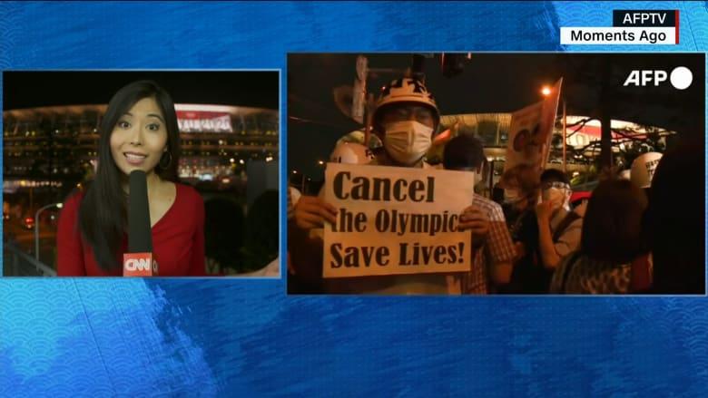تزامنًا مع مراسم الافتتاح.. مظاهرات حاشدة في طوكيو للمطالبة بإلغاء الأولمبياد