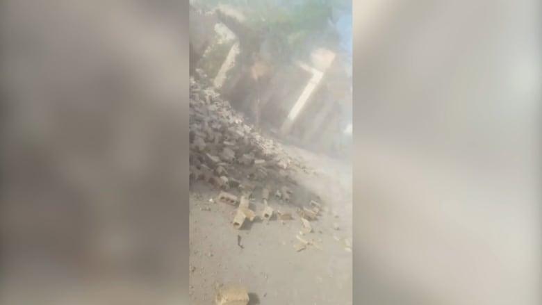 فيديو يُظهر اللحظات الأولى والدمار الذي سببه زلزال هايتي