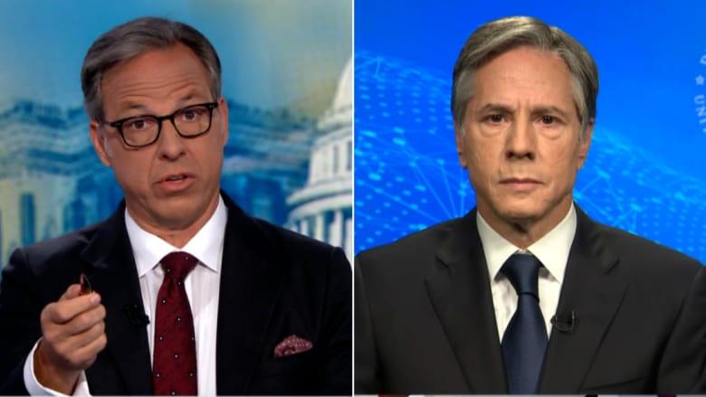 """""""أنت تواصل تغيير الموضوع"""".. مذيع CNN يضغط على بلينكن بشأن قرار بايدن بالانسحاب من أفغانستان"""