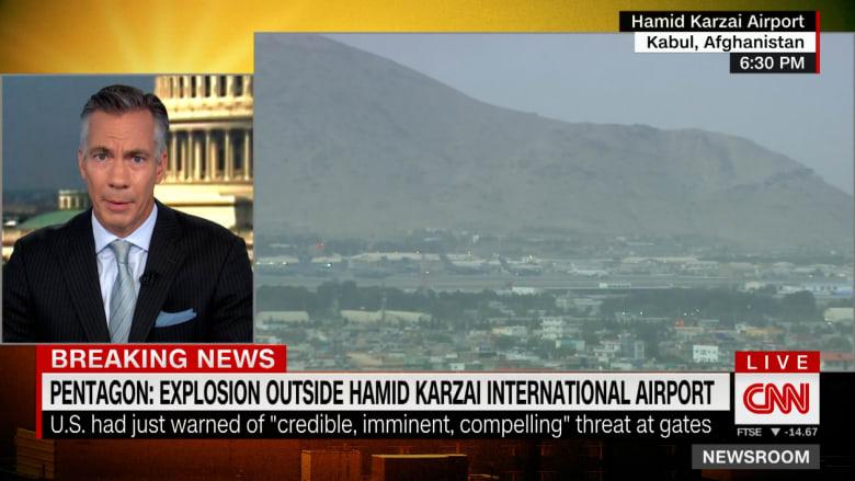 المشاهد الأولى بعد انفجار في محيط مطار كابول بأفغانستان