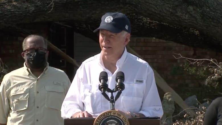 خلال زيارته للمناطق المتضررة.. بايدن يتعهد بدعم المجتمعات التي دمرها إعصار أيدا