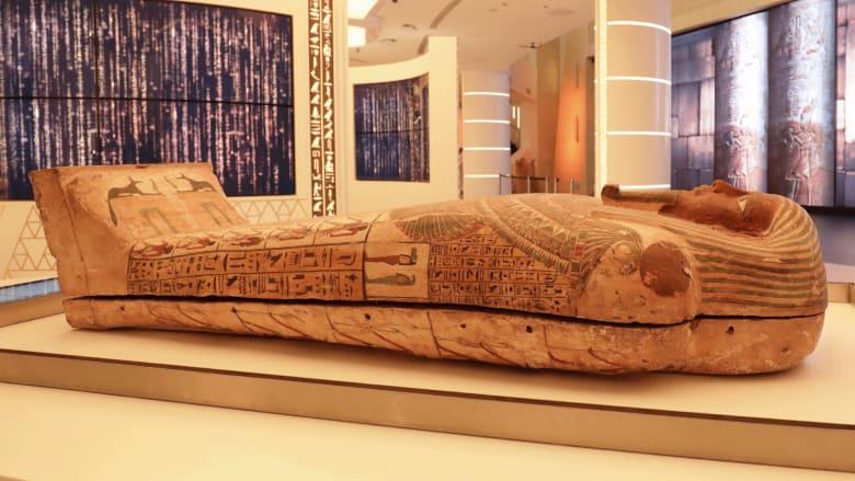 تابوت فرعوني يحمل رسالة إلى العالم عن مصر في إكسبو 2020 دبي..ما سره؟